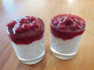 Raspberries Sweet Dessert Chia Seeds Delicious
