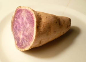 There are many different varieties of actual yams. This is a purple yam.